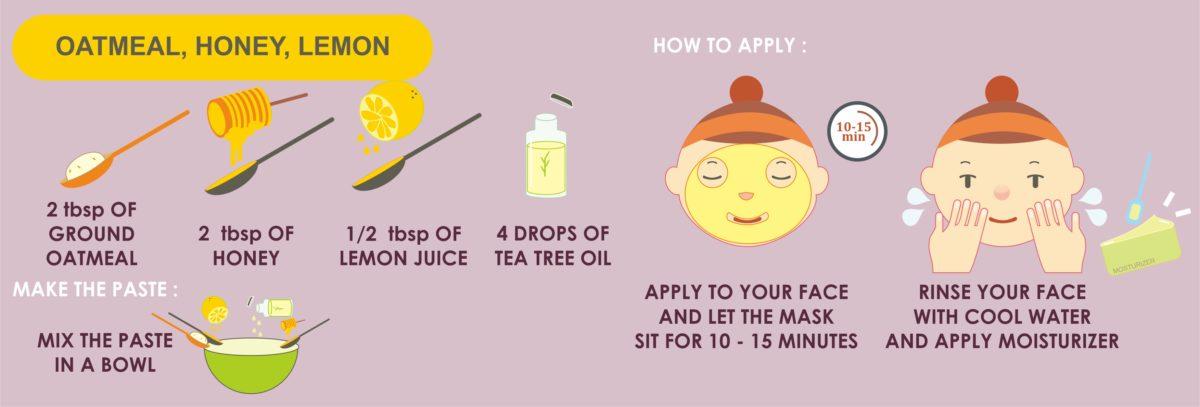 oatmeal honey lemon mask