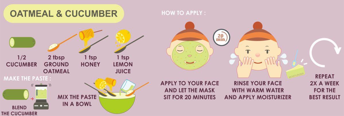 oatmeal cucumber mask